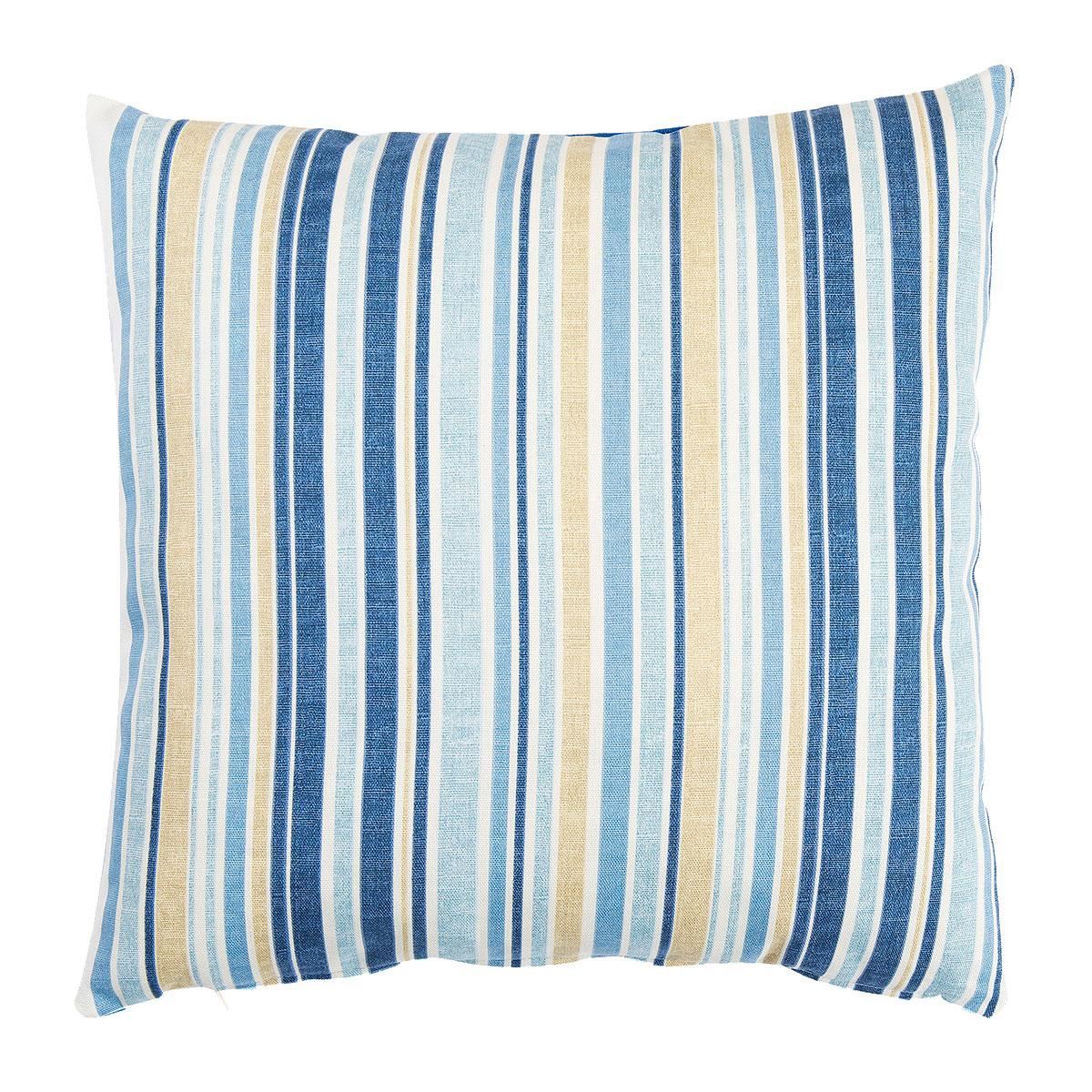 Cotton Print Blue Stripes Cotton Print Cushions Sw Living