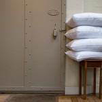 Pillow by door